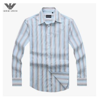 Chemise Armani Homme Manches Longue rayees Pas Cher Solde