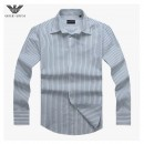 Chemise Armani Homme Manches Longue Blanc rayees Boutique