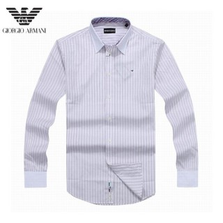 Chemise Armani Homme Manches Longue Gris rayees Achat Pas Cher