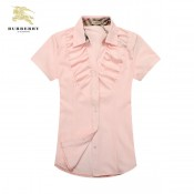 Chemise Burberry Femme Manches Courtes Rose Pas Chere