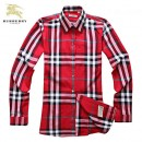 Chemise Burberry Femme Manches Longue Rouge France