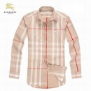 2017 Chemise Burberry Homme Blanc Multicolor Manches Longue Magasin Lille