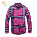 2017 Chemise Burberry Homme Rose Manches Longue Outlet Online