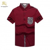 Chemise Burberry Homme Manches Courtes Rouge Destock