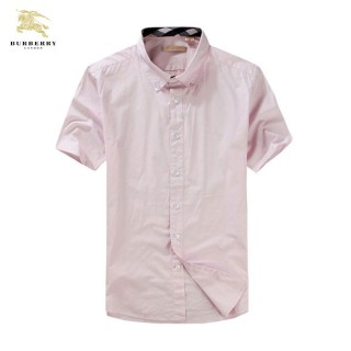 Chemise Burberry Homme Manches Courtes Rose Achat Pas Cher