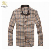 Chemise Burberry Homme Manches Longue Marron Magasin Usine