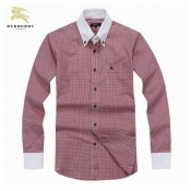 Chemise Burberry Homme Manches Longue Rose Nouvelle Collection