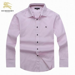Chemise Burberry Homme Manches Longue unies Rose Magasins