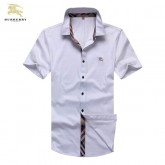 Chemise Burberry Homme Manches Courtes Blanc Usine