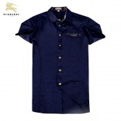 Chemise Burberry Homme Manches Courtes Bleu Outlet France