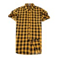 Chemise Burberry Homme Manches Courtes Jaune Vente Privee