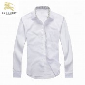 Chemise Burberry Homme Manches Longue Blanc unies France