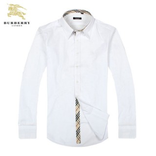 Chemise Burberry Homme Manches Longue Blanc unies Outlet Online