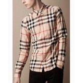 Chemise Burberry Homme Manches Longue Jaune Europe
