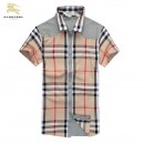 Chemise Burberry Homme Multicolor Beige Manches Courtes France