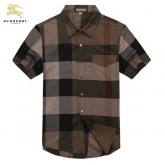 Chemise Burberry Homme Multicolor Manches Courtes Outlet