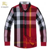Chemise Burberry Homme Rouge Manches Longue Boutique Lille