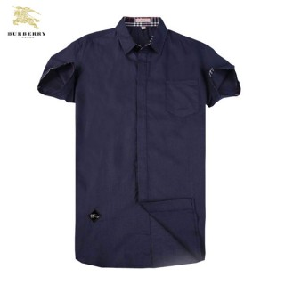 Chemise Burberry Homme unies Manches Courtes Solde