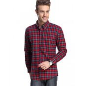 Chemise Burberry Homme Manches Longue a carreaux Rouge Magasin France