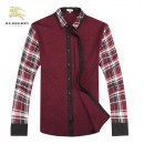 Chemise Burberry Homme Manches Longue Rouge Pas Cher