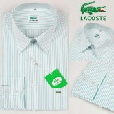 Chemise Lacoste Homme Manches Longue Blanc rayees Prix