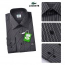 Chemise Lacoste Homme Manches Longue Noir rayees Pas Cher France