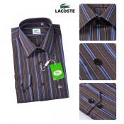 Chemise Lacoste Homme Manches Longue rayees Acheter Pas Cher