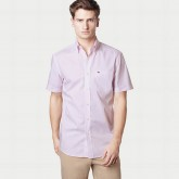 Chemise Lacoste Homme unies Manches Courtes Outlet
