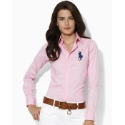 Chemise Polo Ralph Lauren Femme Manches Longue Rose Magasin France