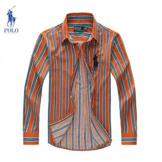 Chemise Polo Ralph Lauren Homme rayees Bleu Manches Longue Europe
