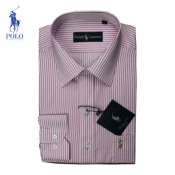 Chemise Polo Ralph Lauren Homme Manches Longue rayees Rose Boutique