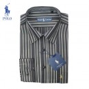Chemise Polo Ralph Lauren Homme rayees Gris Manches Longue France