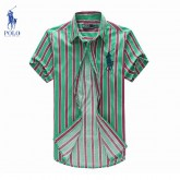 Chemise Polo Ralph Lauren Homme rayees Manches Courtes Outlet Online