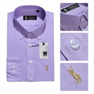 Chemise Polo Ralph Lauren Homme rayees Manches Longue Moins Cher