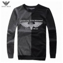Pull Armani Homme Gris Col rond Site Pas Cher