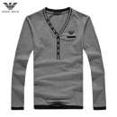 Pull Armani Homme Logos Gris Solde Pas Cher