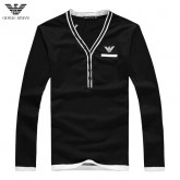 Pull Armani Homme Logos Col V Manches Longue Pas Cher Solde