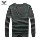 Pull Armani Homme Manches Longue Gris Multicolor Soldes