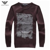 Pull Armani Homme Col rond Boutique Pas Cher