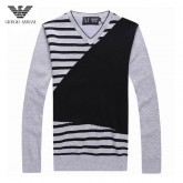 Pull Armani Homme Manches Longue Noir Rayures France Pas Cher