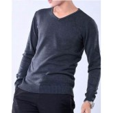 Pull Armani Homme Pures Couleurs Col V Manches Longue Gris Outlet