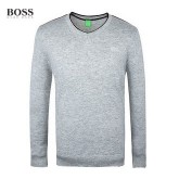 2017 Pull Boss Homme Col V Manches Longue Gris Magasin D Usine
