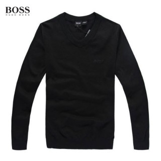 Pull Boss Homme Col V Manches Longue Noir Prix