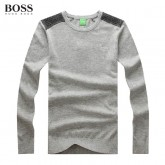 Pull Boss Homme Col rond Gris Manches Longue Magasins