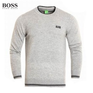 Pull Boss Homme Gris Manches Longue Europe