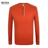 Pull Boss Homme Pures Couleurs Col rond Orange Paris Boutique