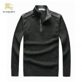 Pull Burberry Homme Col montant Pures Couleurs En Solde