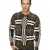 Pull Burberry Homme Col V Vert Outlet France