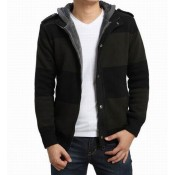 Gilet Burberry Homme Capuche Manches Longue Rayures Vente Privee