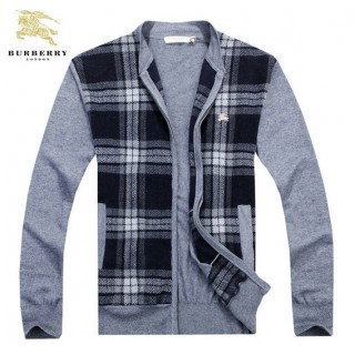 Gilet Burberry Homme Carree Col montant Manches Longue Gris Magasins